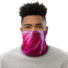 Load image into Gallery viewer, Face Mask Neck Gaiter Neon Modern Swirl