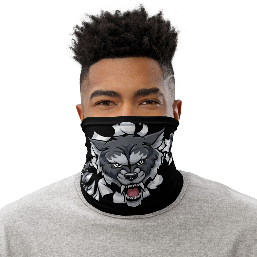 Face Mask Neck Gaiter Fierce Wolf