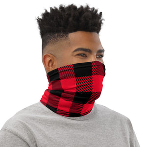 Face Mask Neck Gaiter Red Plaid