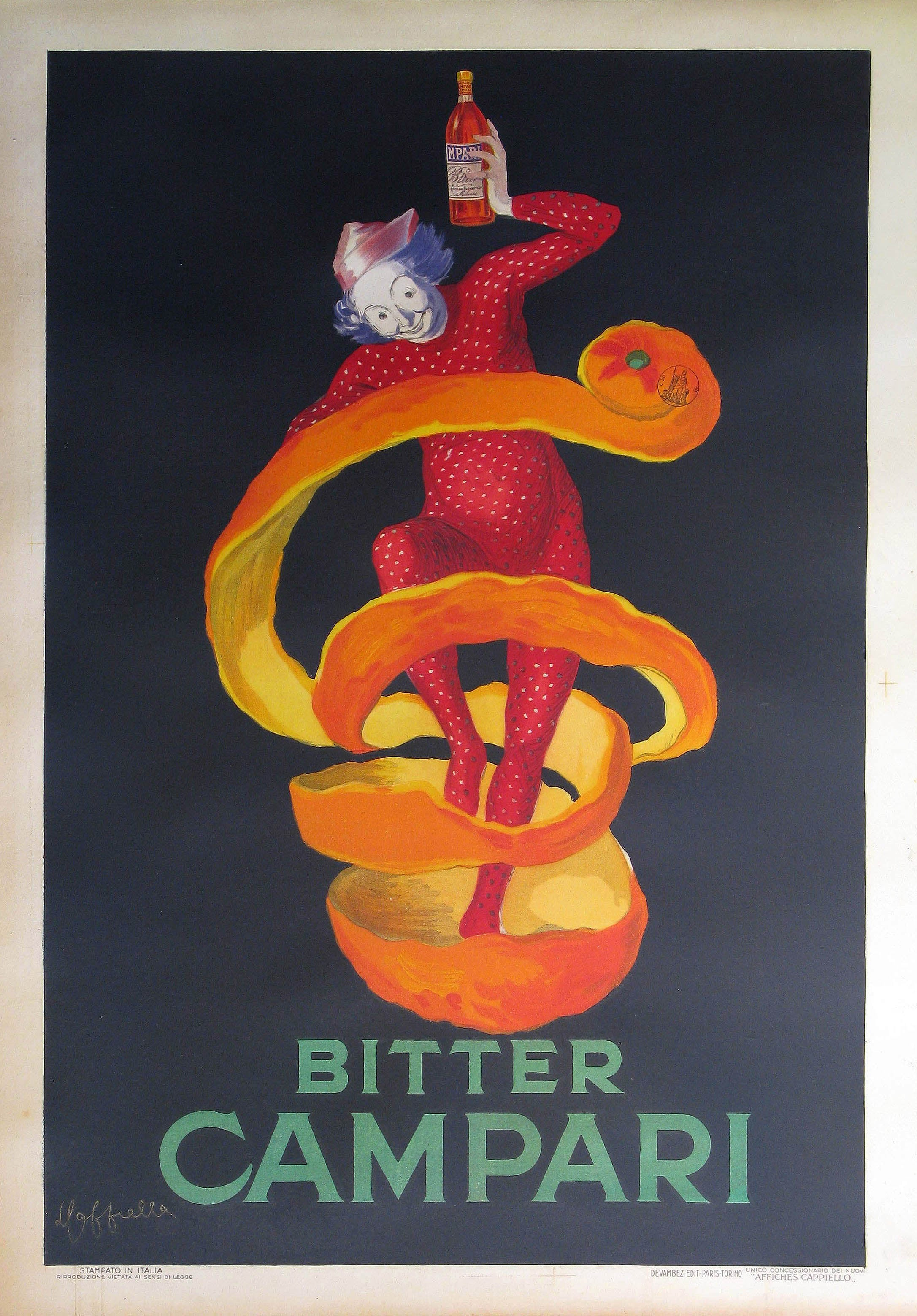 bitter campari poster by leonetto cappiello