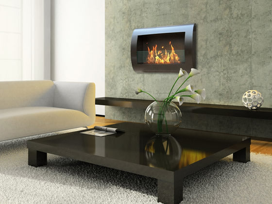 Anywhere Fireplace - Chelsea Bio-Ethanol Wall Fireplace Black
