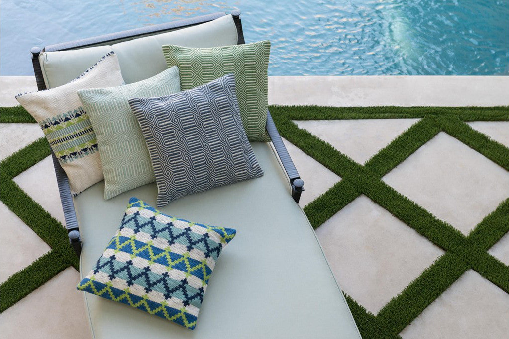 geometric outdoor pillows