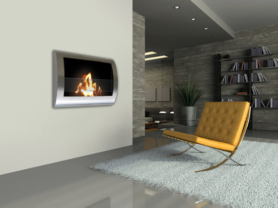 Anywhere Fireplace - Chelsea Bio-Ethanol Wall Fireplace Stainless Steel