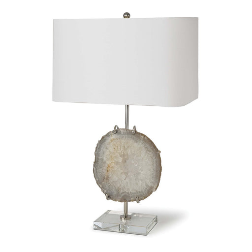 Nickel Exhibit Table Lamp Natural Agate | Regina Andrew | Trovati Studio