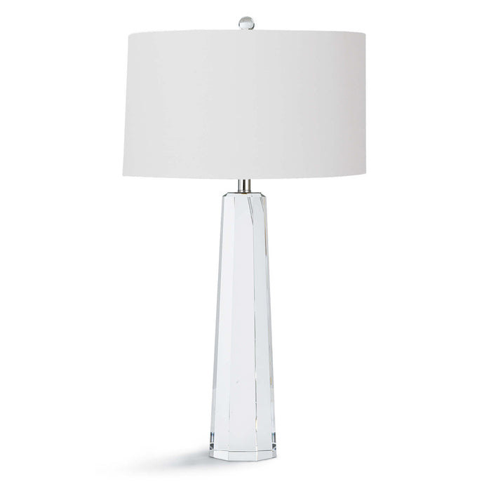 Tapered Hex Crystal Table Lamp - Regina Andrew Design