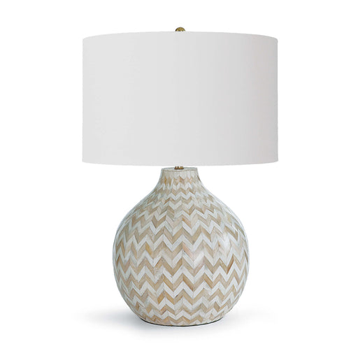 Chevron Bone Table Lamp (Natural) - Regina Andrew Design - Trovati