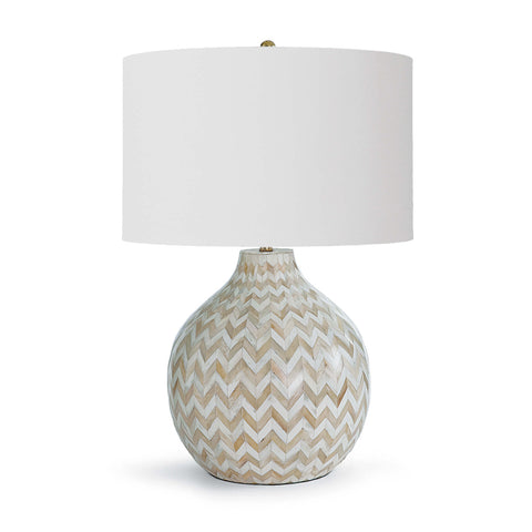 Chevron Bone Table Lamp (Natural) - Regina Andrew Design