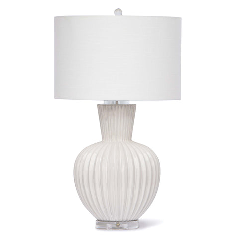 Madrid Ceramic Table Lamp (White) - Regina Andrew Design