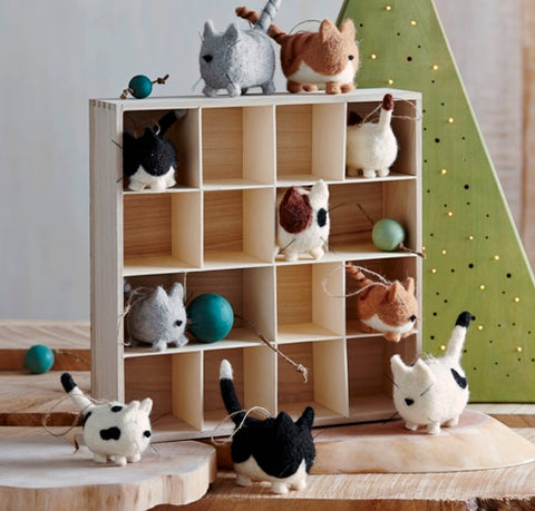Roost Fat Cat Ornaments S/5