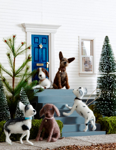 Roost Downtown Hound Ornaments S/5 - Trovati