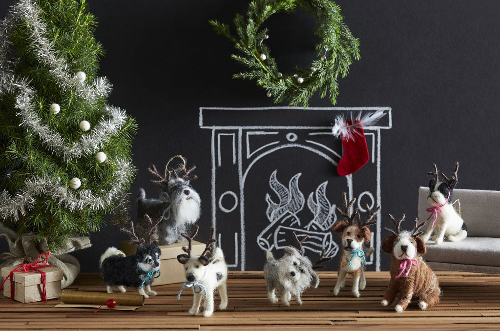 Roost Holiday Hound Ornaments S/7