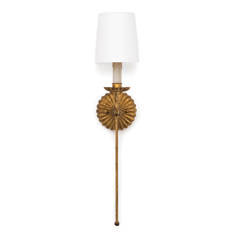 Clove Sconce Single (Antique Gold Leaf) - Regina Andrew Design