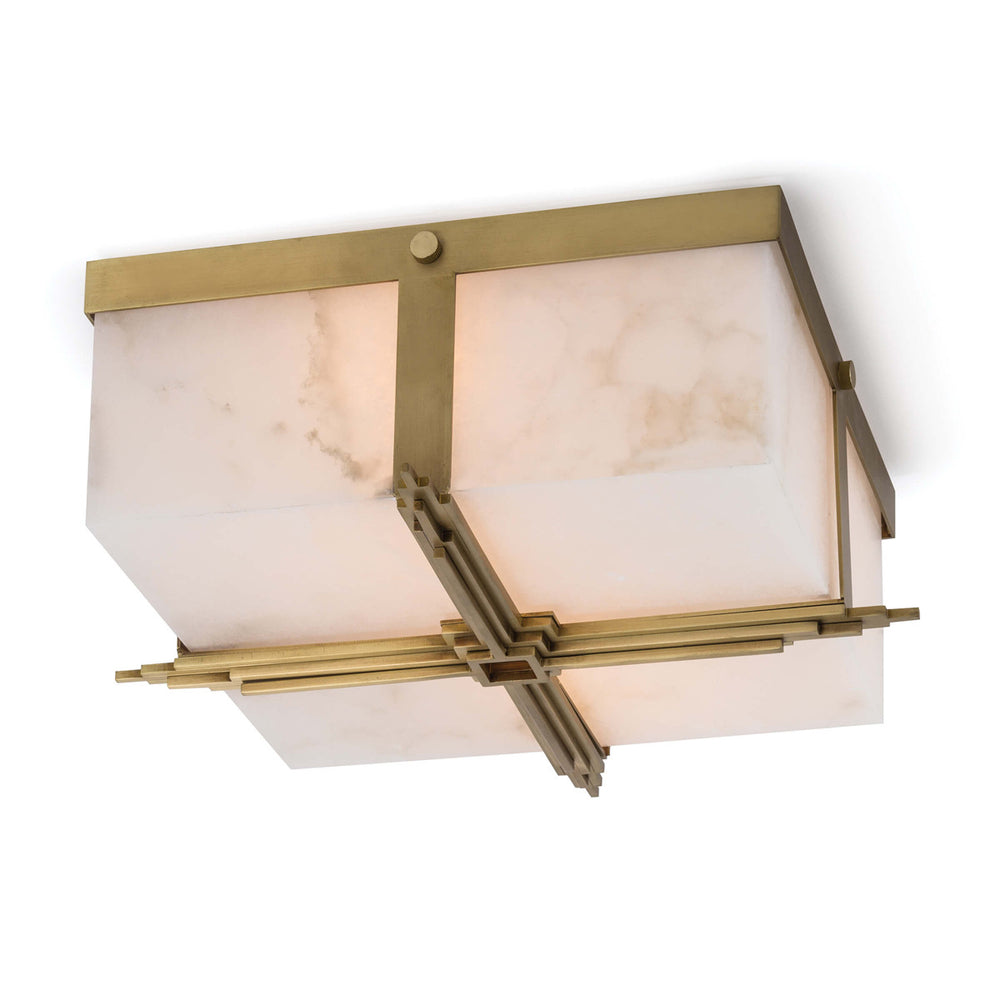 Regina Andrew Design Gotham Flush Mount - Natural Brass - Trovati