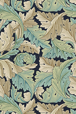 Vinyl Floorcloth - Privet Acanthus - Spicher and Company | Trovati Studio