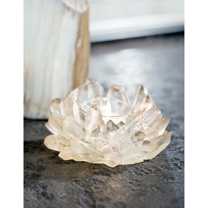 Votive Candle Holder - Faux Crystal