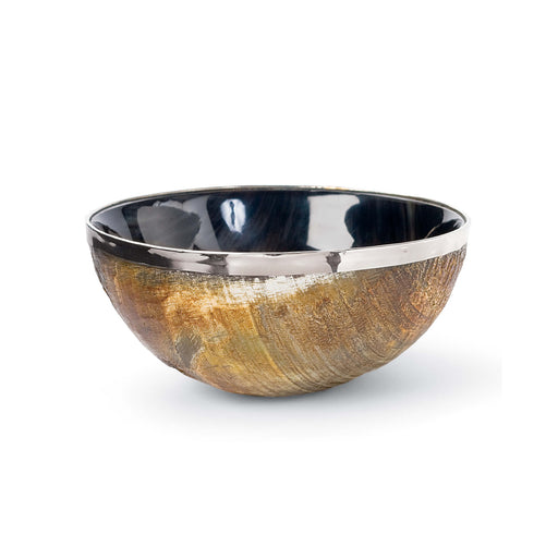 Polished Horn And Brass Bowl