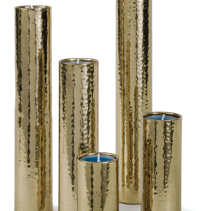 Hammered Bud Vase Set (Polished Brass)