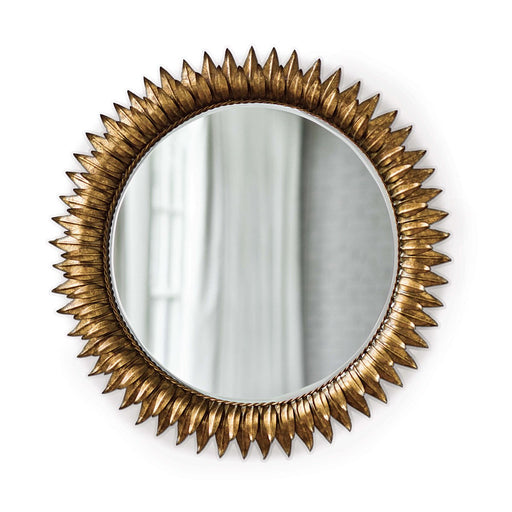 Sunflower Mirror | Antique Gold | Regina Andrew | Trovati Studio