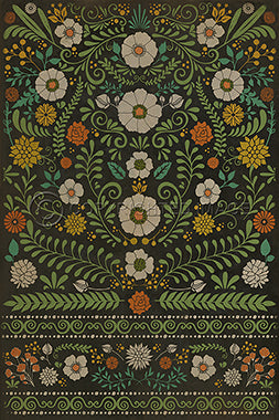 Vinyl Floorcloth - Floral Arranger of Disorder - Spicher and Company