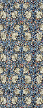 Vinyl Floorcloth - Indigo Pimpernel - Spicher and Company | Trovati Studio