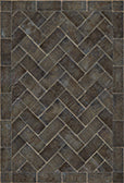 Vinyl Floorcloth - Herringbone Brick Blacksmiths Hammer - Spicher and Company