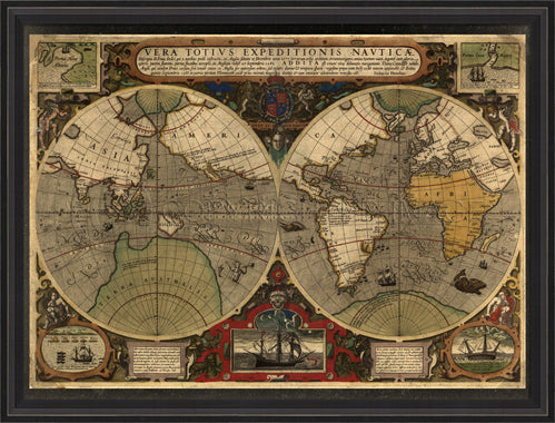 Map of the World 1595 - Spicher and Company | Trovati