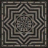Vinyl Floorcloth - Caledonian Expect a Masterpiece (Grey) - Spicher and Company | Trovati
