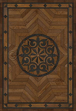 Vinyl Floorcloth - Caledonian Eye of Workman (Brown) - Spicher and Company | Trovati