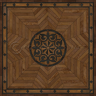 Vinyl Floorcloth- Caledonian Eye of Workman (Brown) - Spicher and Company | Trovati