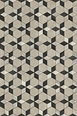 Vinyl Floorcloth - Starman - (grey with white and black accents) Spicher and Company | Trovati