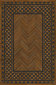 Vinyl Floorcloth -  Dulwich - Spicher and Company | Trovati | Brown | Black | Wood grain | rectangle