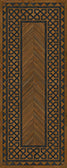 Vinyl Floorcloth -  Dulwich - Spicher and Company | Trovati | Brown | Black | Wood grain | runner