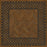 Vinyl Floorcloth -  Dulwich - Spicher and Company | Trovati | Brown | Black | Wood grain | square