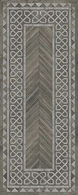 Vinyl Floorcloth -  Glasglow - Spicher and Company | Trovati | grey | white | runner
