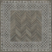 Vinyl Floorcloth -  Glasglow - Spicher and Company | Trovati | grey | white | square