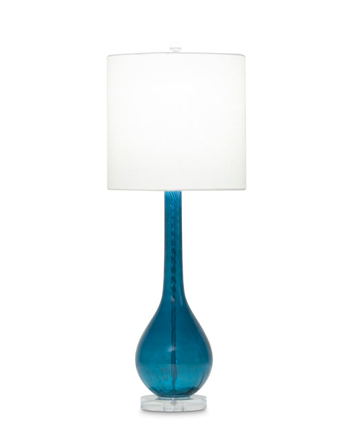 Merlot Table Lamp (Blue Glass) - FlowDecor | Trovati