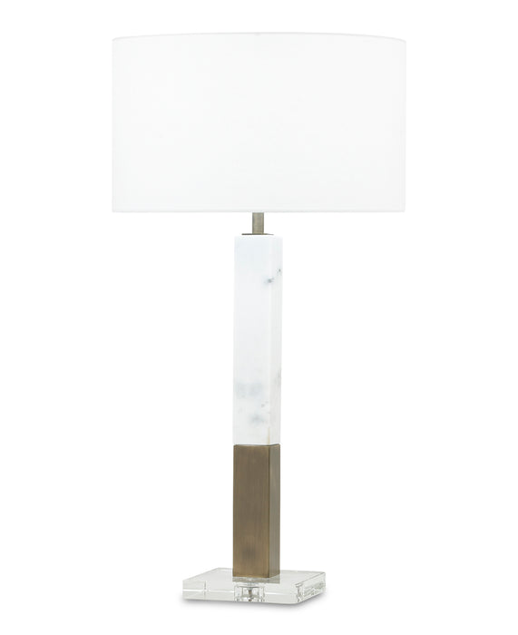 Sanders Table Lamp (White Marble) - FlowDécor
