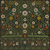 Vinyl Floorcloth - Floral Arranger of Disorder - Spicher and Company | Trovati