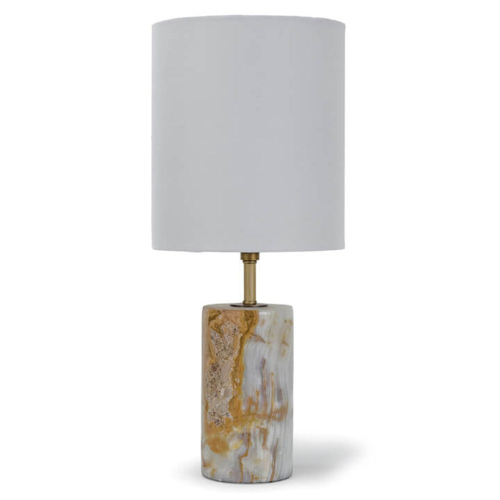 Regina Andrew Design Jade & Brass Mini Cylinder Lamp