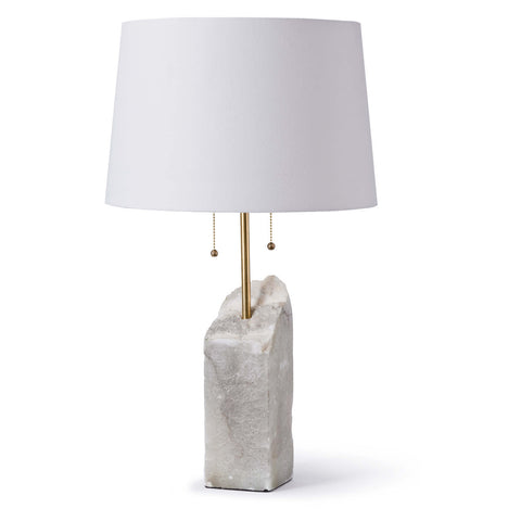 Regina Andrew Square Raw Alabaster Lamp