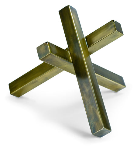 Regina Andrew Design Brass Intersecting Sculpture