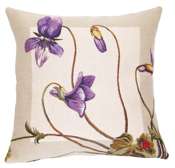 Violettes Decorative Pillow - Jules Pansu