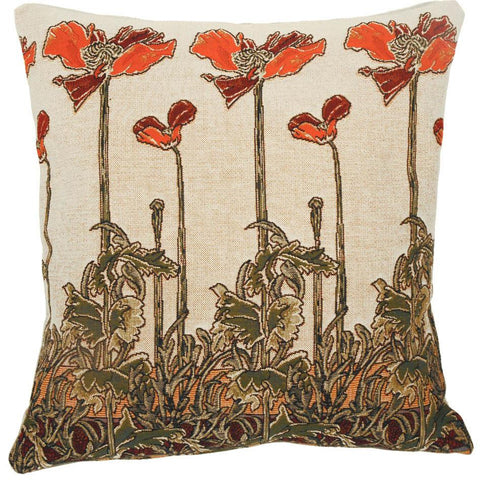 Champ Art Nouveau by Mucha Decorative Pillow - Jules Pansu