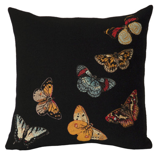 Envol Noir Decorative Pillow - Jules Pansu - Trovati