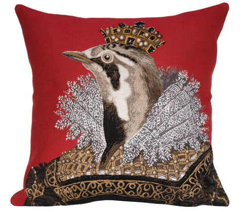 Élisabeth Rouge Decorative Pillow - Jules Pansu