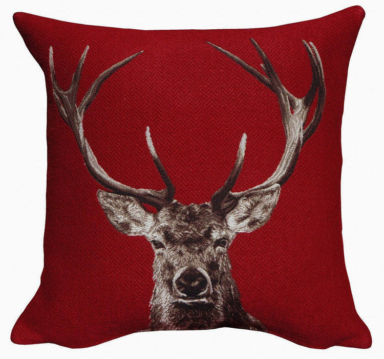 Bois Dormant Rouge Decorative Pillow - Jules Pansu - Trovati