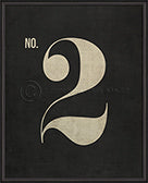 Numbers on Black Wall Print No. 2 - Spicher and Company - Trovati