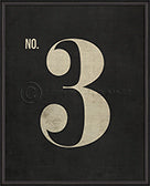 Numbers on Black Wall Print No. 3 - Spicher and Company - Trovati