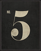 Numbers on Black Print (No. 5)