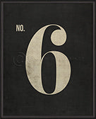 Numbers on Black Print (No. 6)